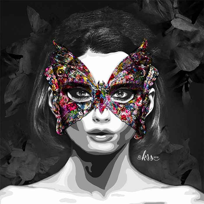 Butterfly Mask by Kristel Bechara